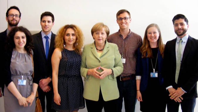 Year of Study students meets Angela Merkel (Chancellor of Germany)